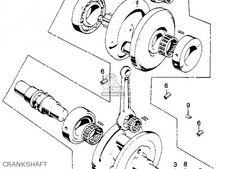Honda Cl350 Scrambler 350 K0 1968 Usa parts list