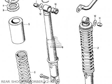 Honda Cl350 Scrambler 350 K3 1971 Usa parts list