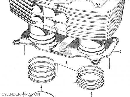 Honda Cl350 Scrambler 350 K4 1972 Usa parts list