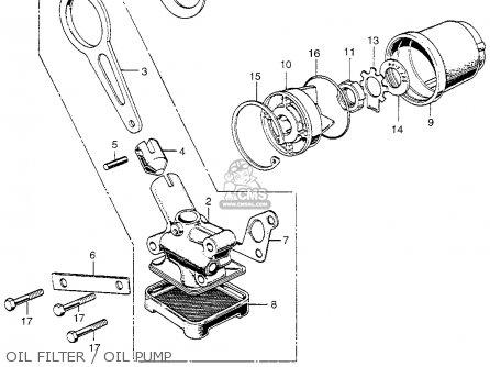 Honda Cl350 Scrambler 350 K5 1973 Usa parts list