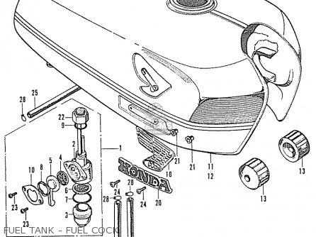 Honda CL350 SCRAMBLER K2 GENERAL EXPORT parts lists and