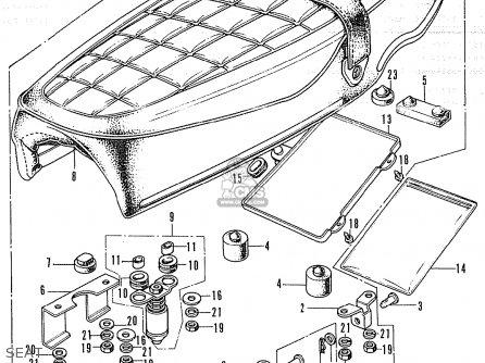 Honda Cl350 Scrambler K4 General Export / Kmh parts list