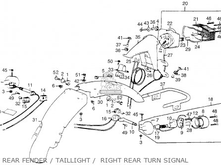 Honda CL360 SCRAMBLER 1974 K0 USA parts lists and schematics