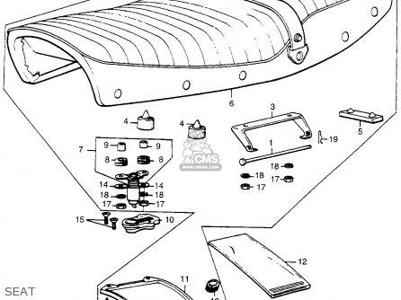Honda Cl360 Scrambler 1974 K0 Usa parts list partsmanual