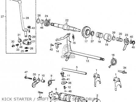Honda Cl360 Scrambler 1975 K1 Usa parts list partsmanual