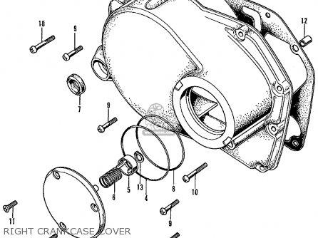 Honda Cl450 Scrambler 1968 K0 Usa parts list partsmanual