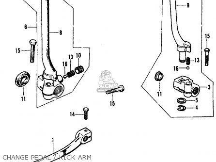 Honda Cl450 Scrambler 1970 K3 Usa parts list partsmanual
