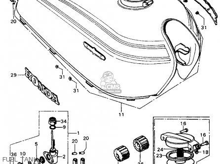 Honda CL450 SCRAMBLER 1970 K3 USA parts lists and schematics