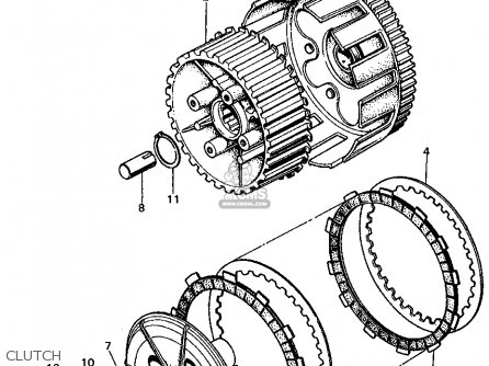 Honda CL450 SCRAMBLER 1972 K5 USA parts lists and schematics