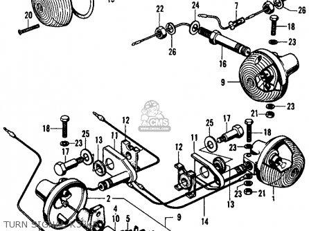 Honda Cl450 Scrambler 1972 K5 Usa parts list partsmanual
