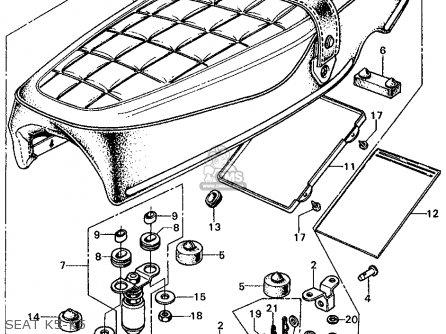 Honda Cl450 Scrambler 1974 K6 Usa parts list partsmanual