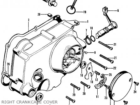 Honda Cl70 Scrambler 1971 K2 Usa parts list partsmanual