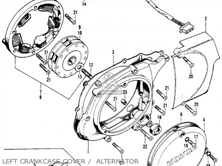 Honda CL90 SCRAMBLER 1967 USA parts lists and schematics