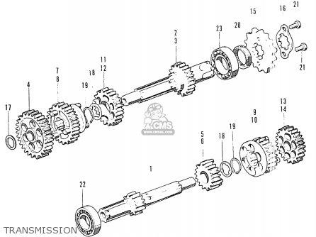 Honda CL90ZK1 SCRAMBLER GENERAL EXPORT parts lists and