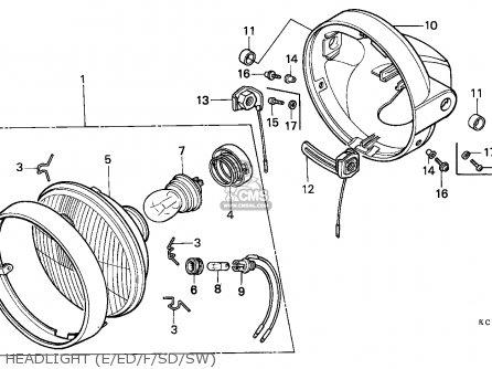 Honda Cm125c Custom 1985 England / Mkh parts list