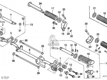 Honda CM125C CUSTOM 1985 (F) ENGLAND / MKH parts lists and