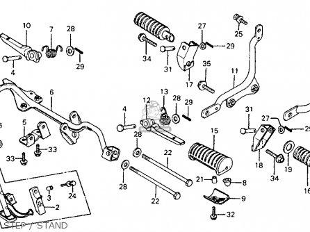 Honda CM185T TWINSTAR 1978 USA parts lists and schematics