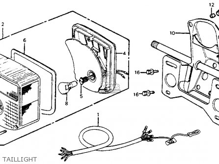 Honda CM200T TWINSTAR 1980 (A) USA parts lists and schematics