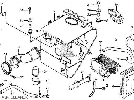 Honda Cm200t Twinstar 1980 Usa parts list partsmanual