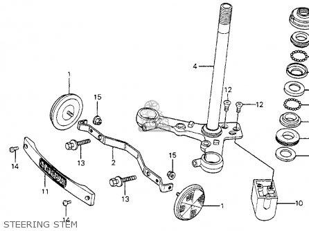 Honda Cm200t Twinstar 1981 (b) Usa parts list partsmanual
