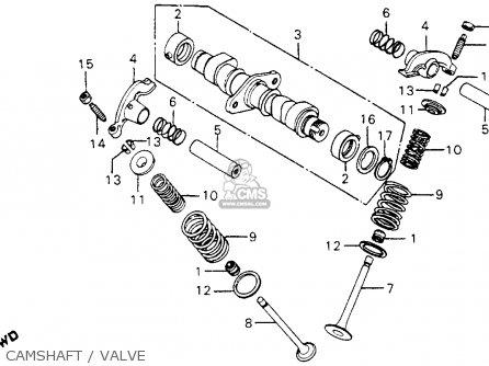 Honda Cm200t Twinstar 1981 Usa parts list partsmanual