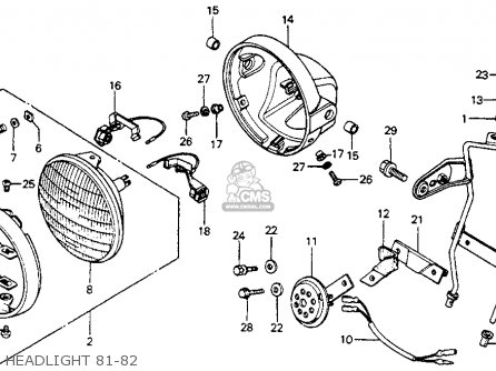 Honda Cm200t Twinstar 1982 (c) Usa parts list partsmanual