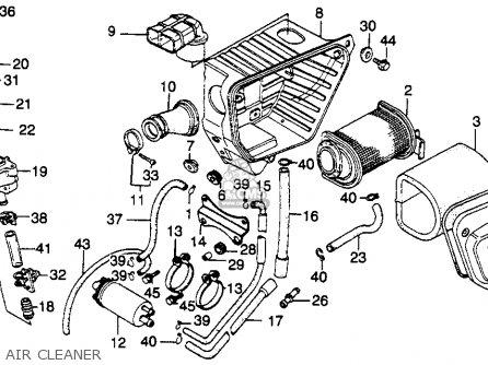 Honda Cm250c Custom 1982 (c) Usa parts list partsmanual