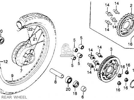 Honda Cm250c Custom 1982 Usa parts list partsmanual partsfiche