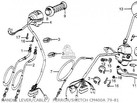 Honda CM400A 1979 (Z) USA parts lists and schematics