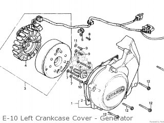Honda CM400A 1981 (B) CANADA parts lists and schematics