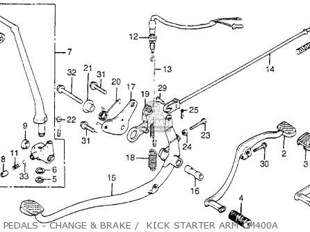 Honda CM400A HONDAMATIC 1980 (A) USA parts lists and