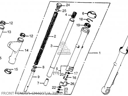 Honda Cm400a Hondamatic 1980 Usa parts list partsmanual