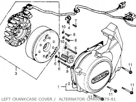 Honda Cm400a Hondamatic 1981 (b) Usa parts list