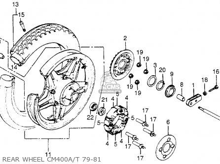 Honda CM400A HONDAMATIC 1981 (B) USA parts lists and