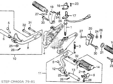 Honda CM400C CUSTOM 1979 (Z) USA parts lists and schematics