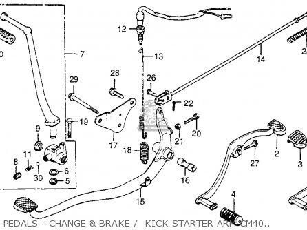 Honda CM400C CUSTOM 1980 (A) 1981 (B) USA parts lists and