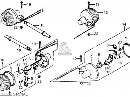 Honda Cm400c Custom 1980 (a) 1981 (b) Usa parts list