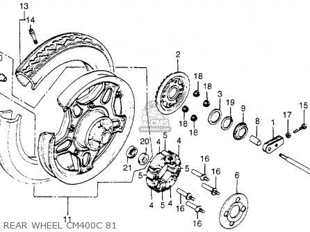 Honda Cm400c Custom 1980 Usa parts list partsmanual partsfiche