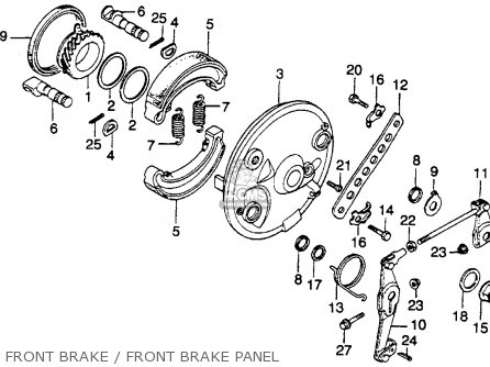 Honda Cm400e 1980 (a) Usa parts list partsmanual partsfiche