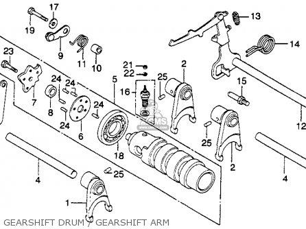 Honda CM400E 1980 (A) USA parts lists and schematics