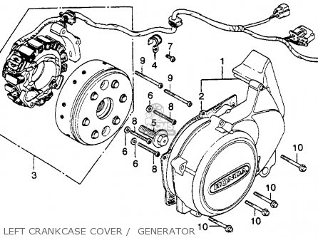 Honda CM400E 1981 (B) USA parts lists and schematics