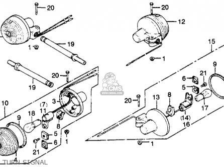 Honda CM400E 1981 (B) USA parts lists and schematics