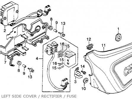 Honda Cm400e 1981 Usa parts list partsmanual partsfiche