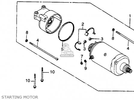 Honda Cm400e 1981 Usa parts list partsmanual partsfiche