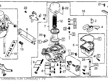Honda Cm400t 1979 (z) Usa parts list partsmanual partsfiche
