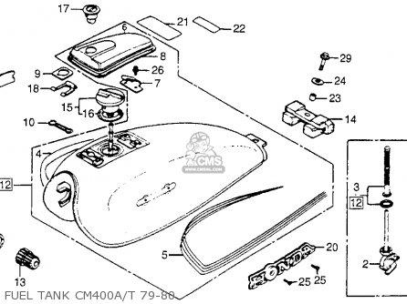 Honda CM400T 1980 (A) USA parts lists and schematics
