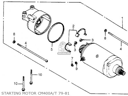 Honda Cm400t 1980 (a) Usa parts list partsmanual partsfiche
