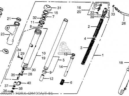 Honda Cm400t 1981 (b) Usa parts list partsmanual partsfiche