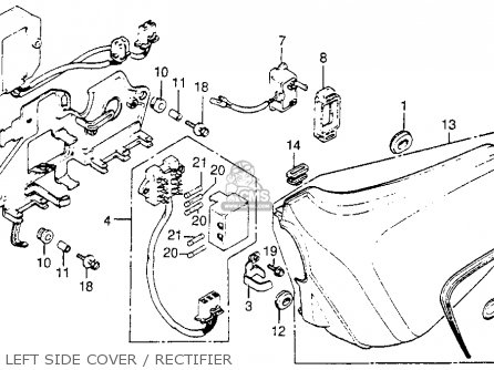 Honda Cm400t 1981 (b) Usa parts list partsmanual partsfiche