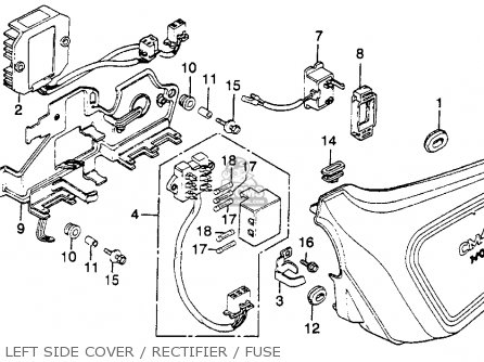 Honda CM450A HONDAMATIC 1982 (C) USA parts lists and